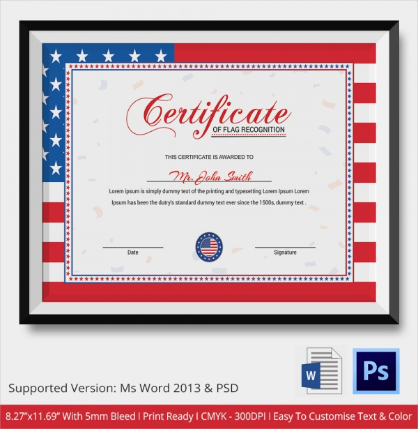 sample certificate of recognition template 21 documents