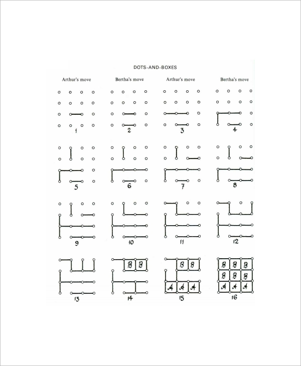 Sample Dot Game Template   Documents In Pdf
