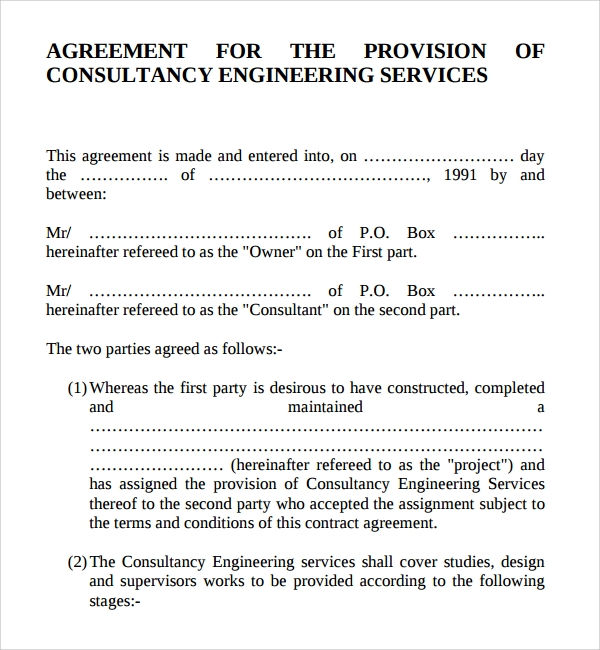 consulting fee agreement template - 10 consulting contract templates sample templates