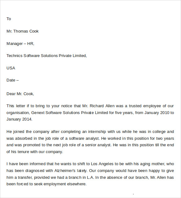 Sample Professional Letter Of Recommendation - 8+ Download