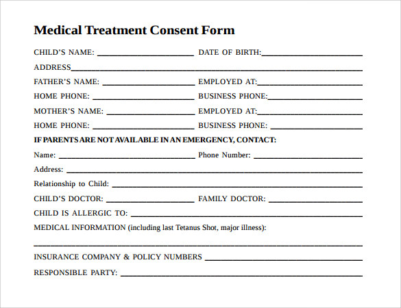 Doc12751650 Medical Consent Form Free Printable Medical – Free Child Medical Consent Form