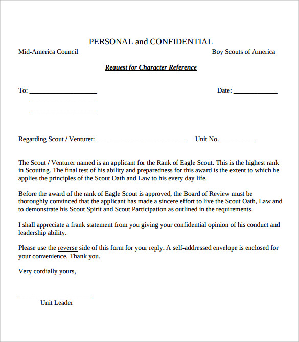 Sample Eagle Scout Letter Of Recommendation - 9+ Download