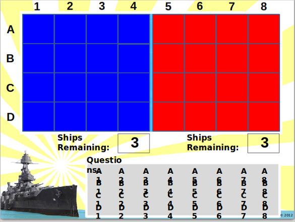 battleship game template powerpoint
