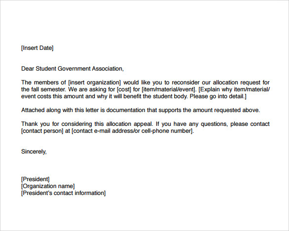 Uci Appeal Letter Sample