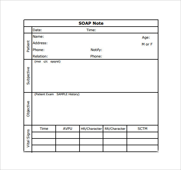 Soap Note Examples  Free Sample Example Format