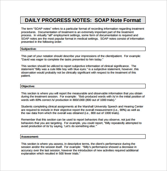15+ Soap Note Examples - Free Sample, Example, Format
