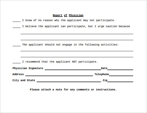 Medical Clearance Form   12+ Free Samples , Examples , Format