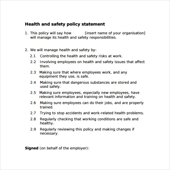 Sle construction laborer general labor resume objective sle sle statement of work health and safety statement of intent template 28 images sle statement of work health and safety statement of intent template maxwellsz