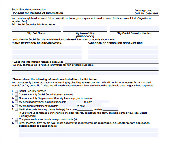 Medical Records Request Forms  Free Samples Examples Format