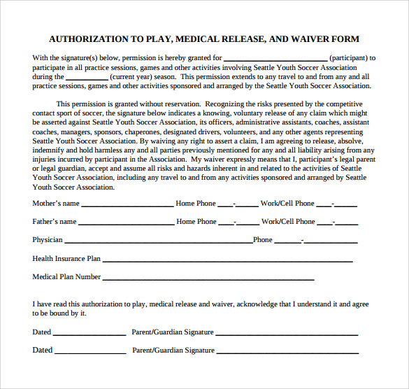 Medical release form pdf use this printable medical for Generic consent form template