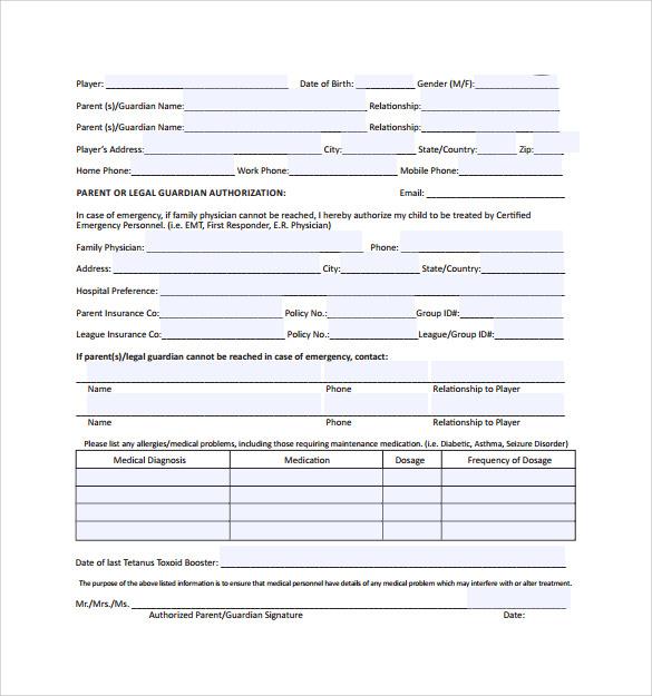 medical release form download