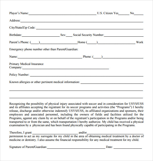 medical release form free
