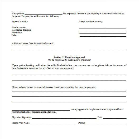 medical release form to print