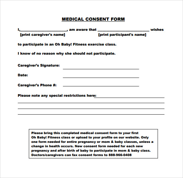 Sample Medical Consent Form   Free Documents Download In Pdf Word