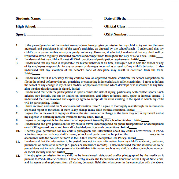 Sample Medical Consent Form 11 Free Documents Download in PDF Word – Sample Medical Consent Form