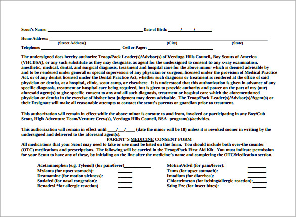 Bsa Medical Form   Free Samples Examples Format