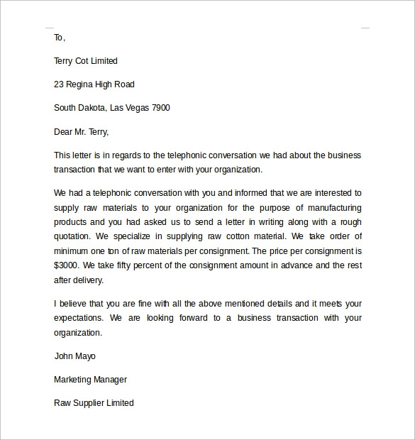 business letter modified block format Basic Business Letter letter ...