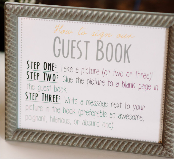 10 guest books sample templates