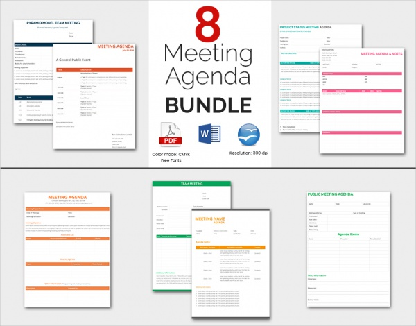 Business Meeting Agenda Template Bundle