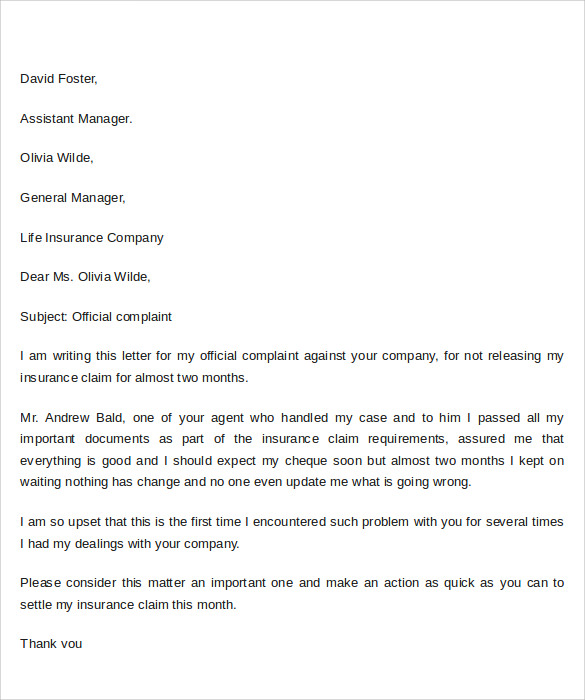 9 sample complaint letter format templates to download