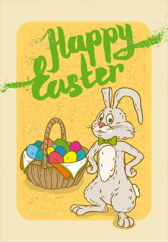 Easter Postcard Template - 18 + Download Documents In Vector Eps