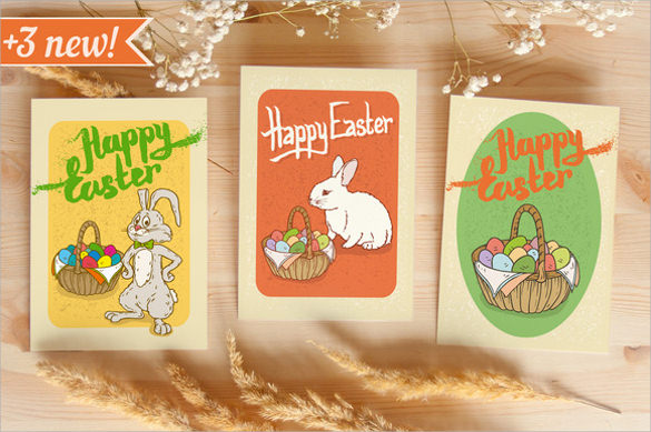 Easter Postcard Template    Download Documents In Vector Eps