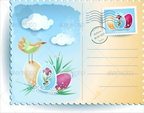 vector easter postcard