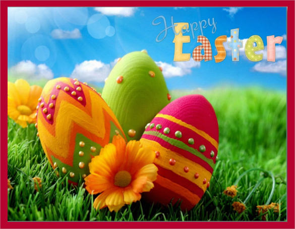 beautiful easter postcard