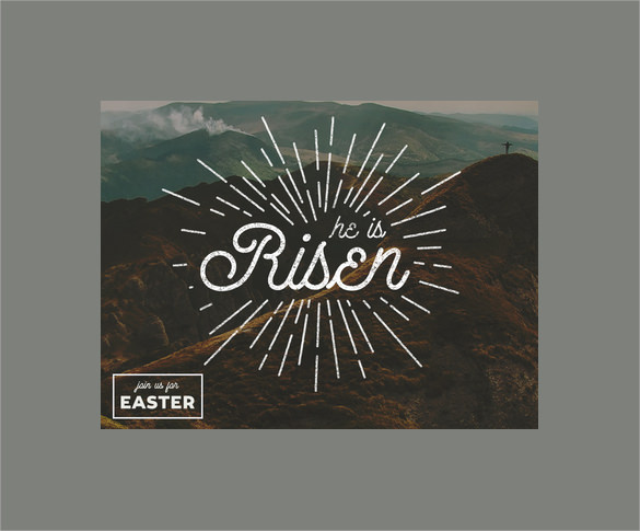 simple easter postcard