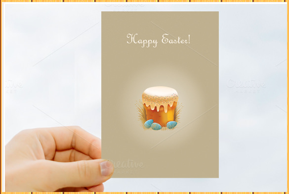 amazing easter postcard