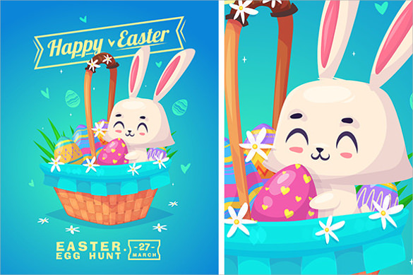 Easter Greeting Card Template   Download Documents In Eps Vector