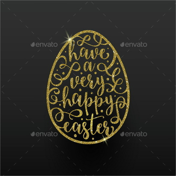 black background easter greeting card