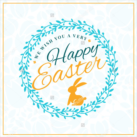 white background easter greeting card