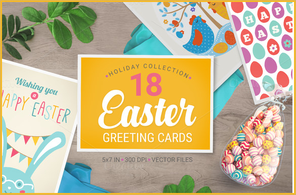 attractive easter greeting card
