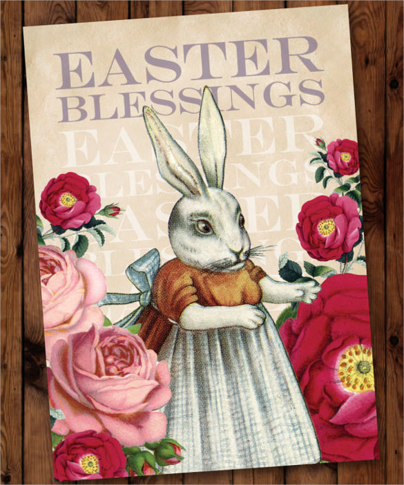 creative easter greeting card