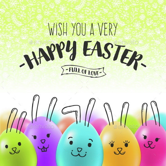 vector eps easter greeting card