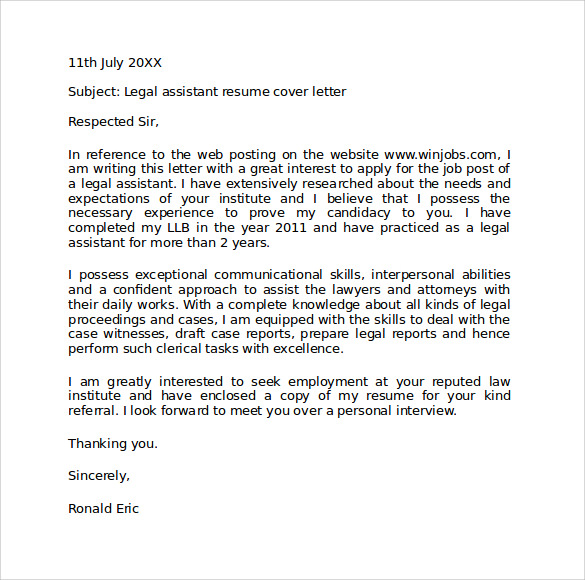 Legal Cover Letter. Technical Administrator Cover Letter - Legal ...