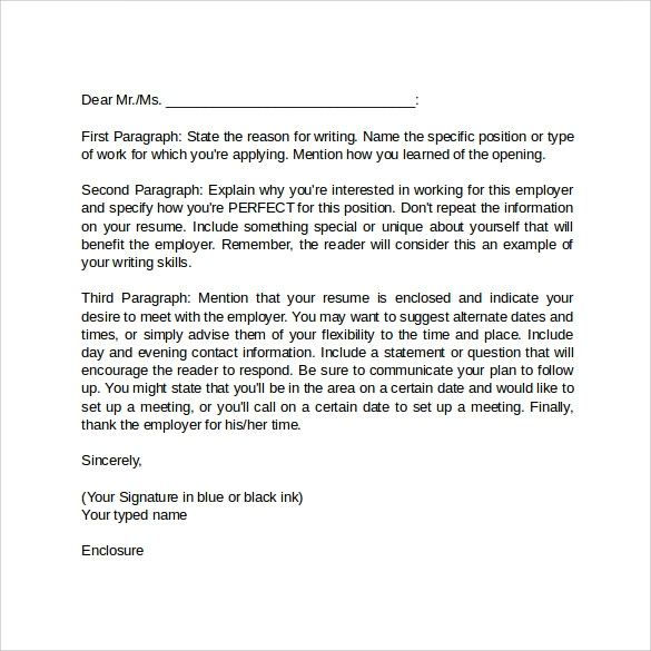 Simple Cover Letter Format  Cover Letter Format Word