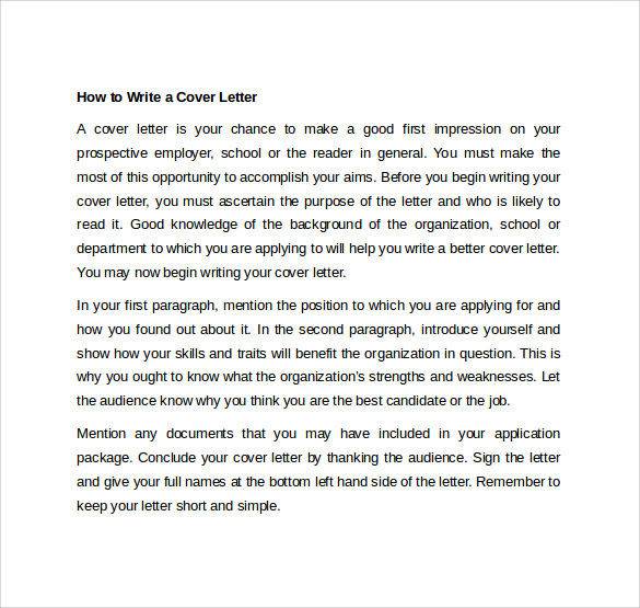 how to write a cover letter1