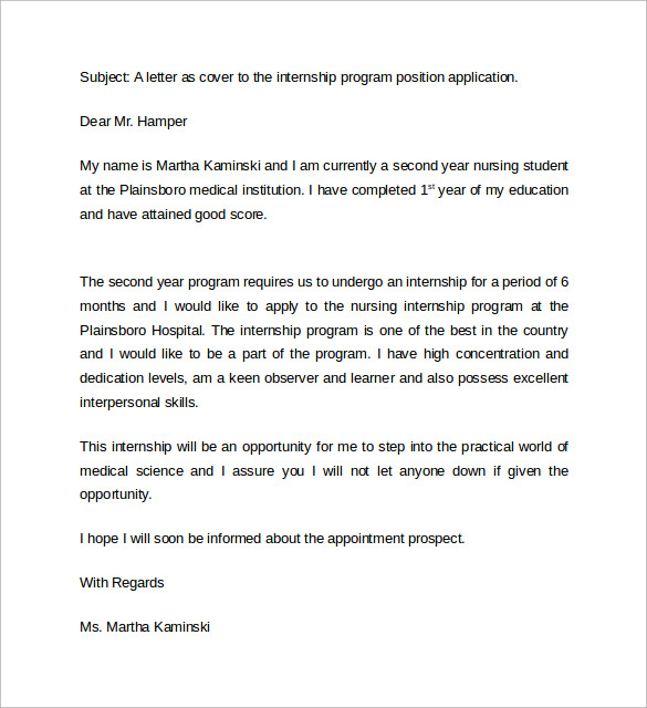 Nursing Student Resume Cover Letter