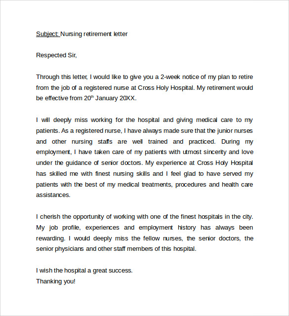 Sample Nursing Cover Letter Example - 10 + Download Free Documents in ...