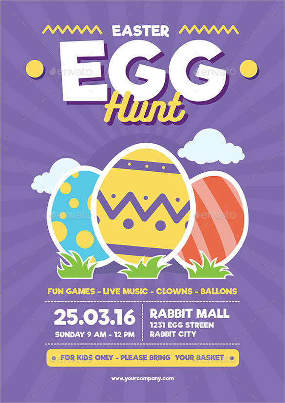 blue background easter flyer