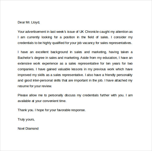 Medical Sales Cover Letter from images.sampletemplates.com