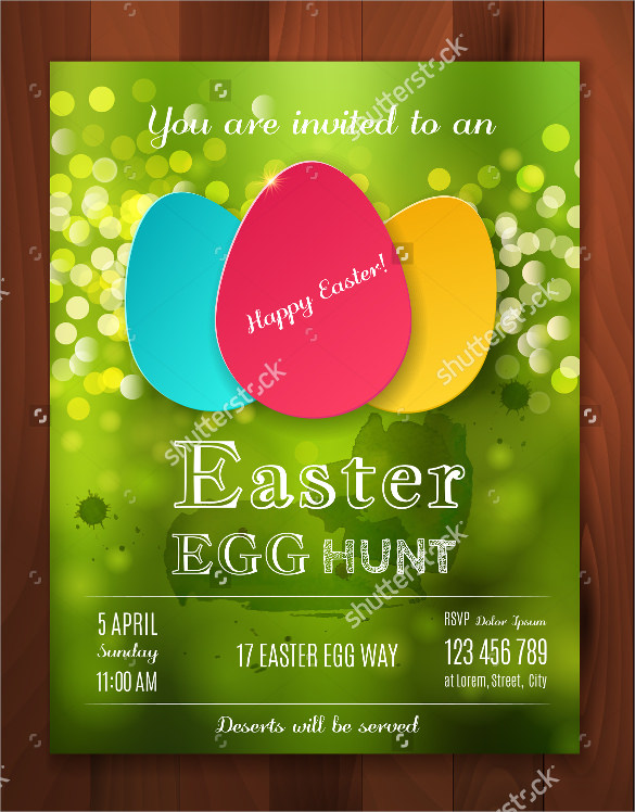 beautiful easter flyer