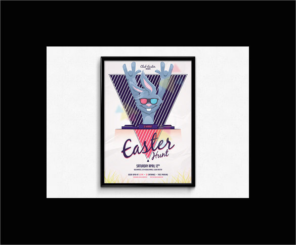 fabulous easter flyer template