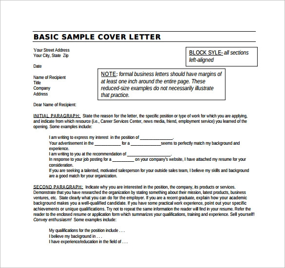 14 Resume Cover Pages: 14 Cover Letter Examples For Jobs To Download