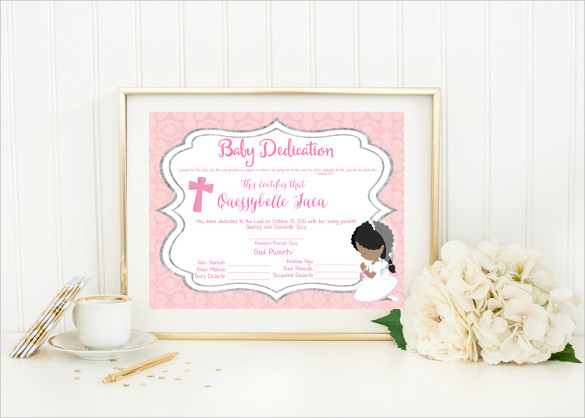 Baptism Certificate - 11+ Free Samples , Examples , Format
