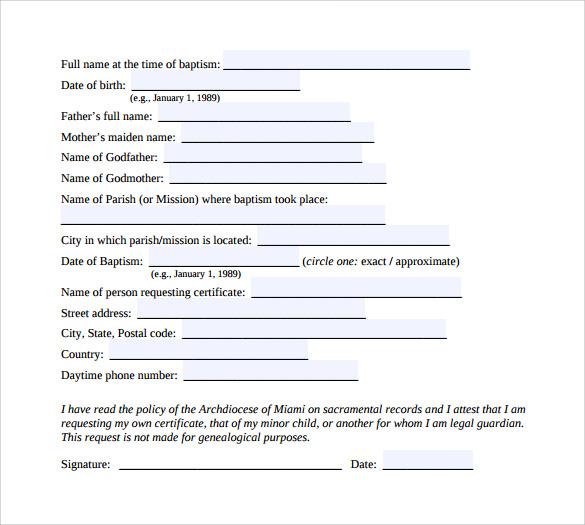 certificate of baptism example%c2%b7