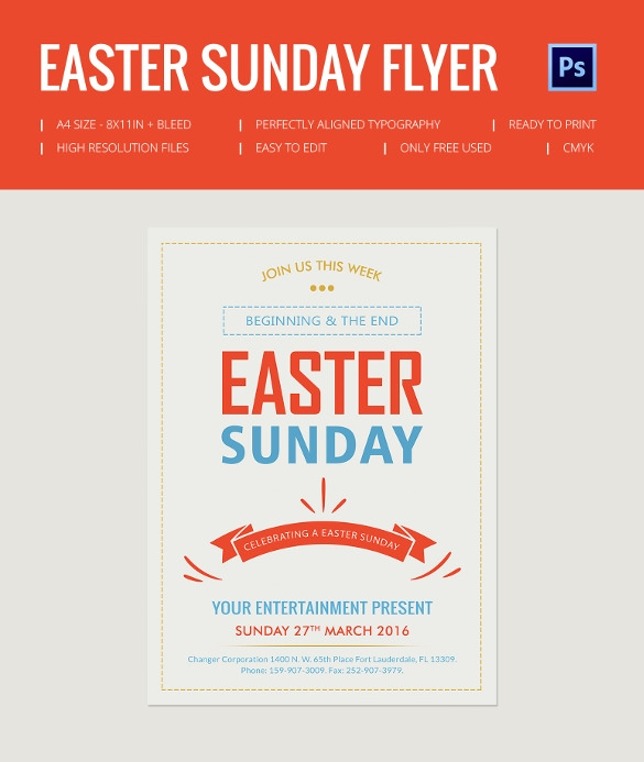easter sunday flyer template free