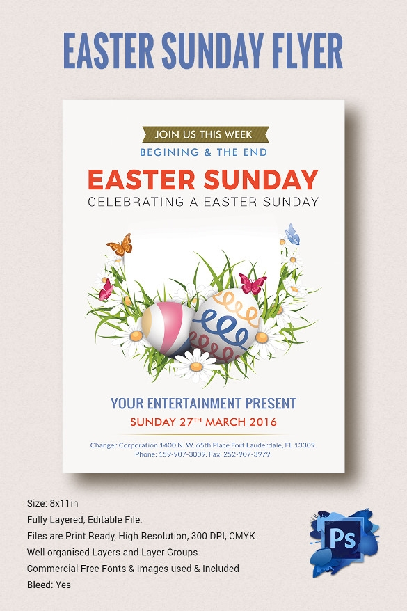Easter Flyer Template   Download Documents In Vector Psd Psd